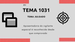 STJ RECONHECE APOSENTADORIA ESPECIAL DOS VIGILANTES