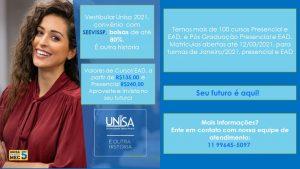 Faculdade UNISA - novo convênio para o associado